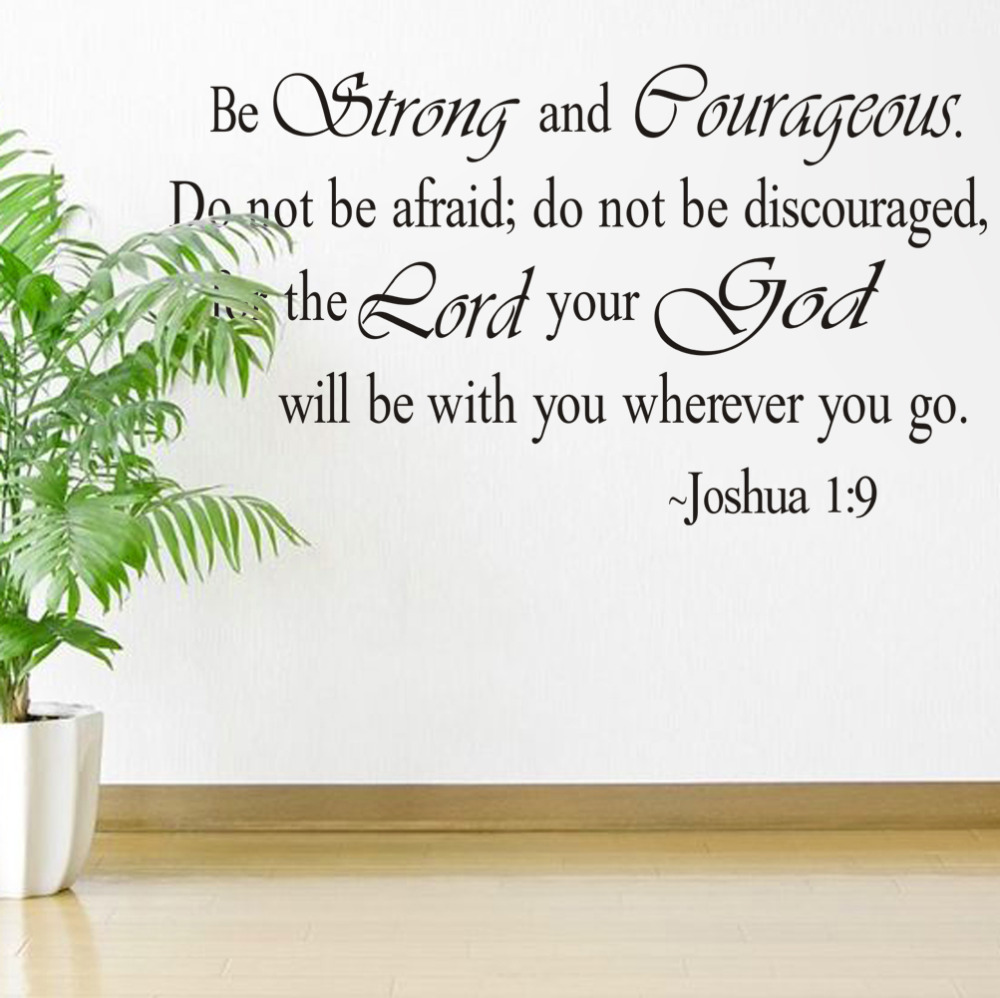 Christian Jesus Inspirational Quotes Vinyl Lettering Wall Stickers