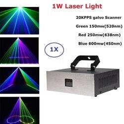 1 W światło laserowe RGB 1000 MW DMX 512 kontroler skanery linii laserowych efekt oświetlenia scenicznego projektor laserowy światła Dj efekt oświetlenia