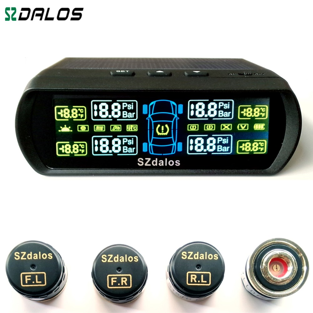 TP400 Solar font b TPMS b font easy for installation Colorful Display withThe new mini external
