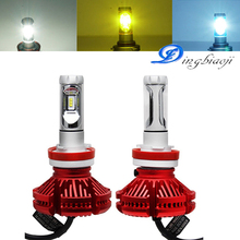 2X H7 H4 LED Bulb 12000lm Car Headlight LED Car font b Lamp b font Fanless