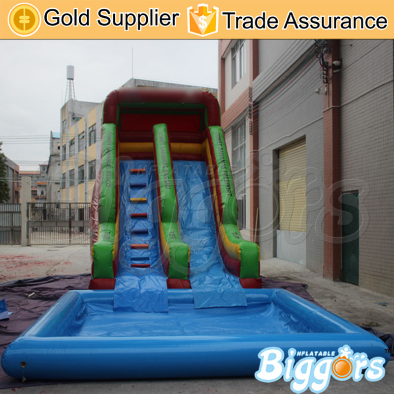 waterproof tobogan inflable inflatable water slide inflatable water slide with poolchina mainland