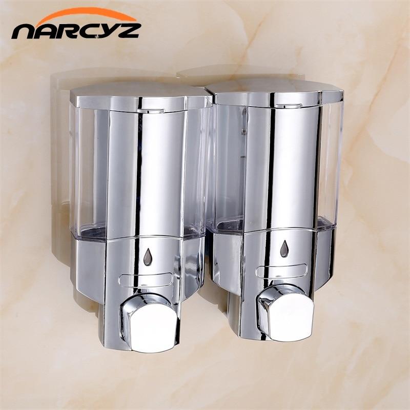 Heapest Double Soap Dispenser Wall Mounted Soap Shampoo