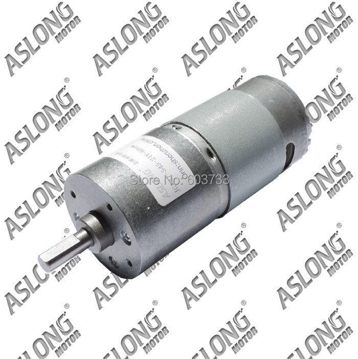 Hot sale!promotional Aslong JGA37-545 24v 400rpm 6mm shaft diameter dc gear motor free shipping