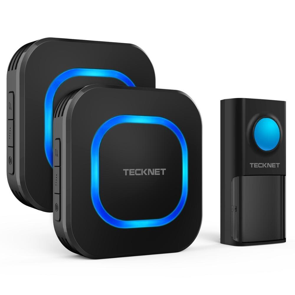 TeckNet, водонепроницаемый, IP55, беспроводной дверной звонок, умный, светодиодный, индикатор, домашний звонок, 150 м, пульт дистанционного управле
