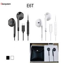 лучшая цена Langsdom E6t USB Type-C Earphone for Xiaomi 8 Bass Headset with Mic In-ear Earphones USB C for Type C Phone USB fone de ouvido