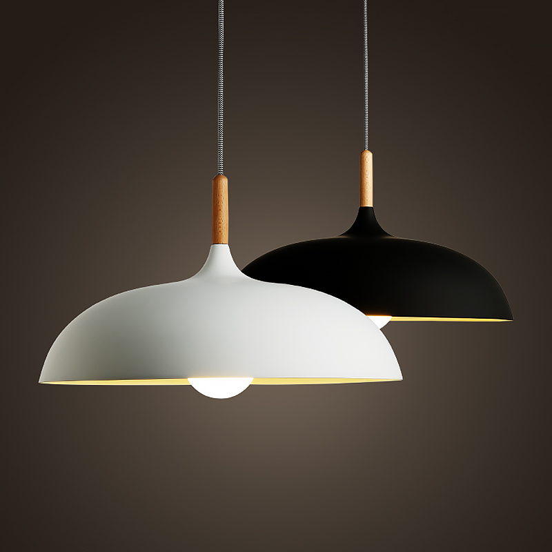 Northern Europe Japan Style Pendant Light Simple Modern Wood Wooden Art Lamp Home Dining Living Room Lighting AC110V 220V E27