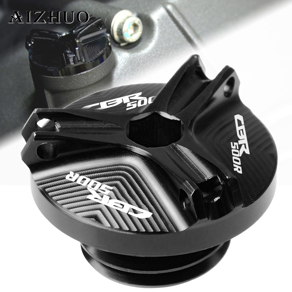 Motorcycle Engine Oil Filler Cup Cap Plug Cover For HONDA CBR500R CB500F CB500X  2013-2018 2017 CB 500R CB500 R