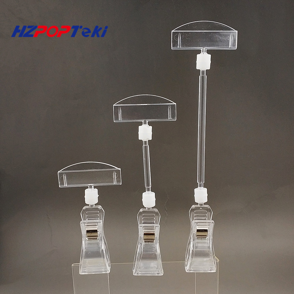 Clear POP Plastic Sign Paper Card Display Price Label Tag Promotion Signage Clips Holders In Supermarket Retails 2000pcs