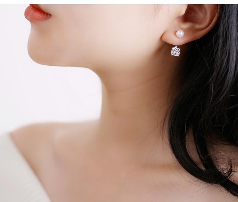 Venta caliente de moda de lujo de perlas de cristal Stud pendientes - Bisutería - foto 5