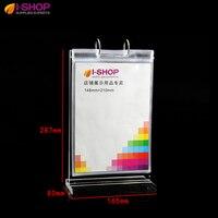 Counter Top Sign Holder Restaurant Menu Holder Acrylic T Shape Stand Up Holder A5 YF 02