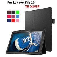 PU Leather With Magnetic Folio Folding Stand Case Book Cover For Lenovo Tab 10 TB X103F