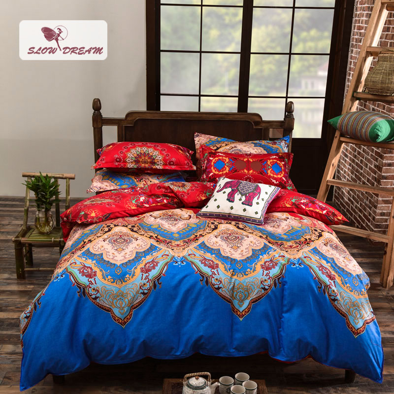 Slow Dream Bohemia Style Art Light Luxury Bedding Set Fashion Comfortable Home Textiles Printing Duvet Cover Bedspreads