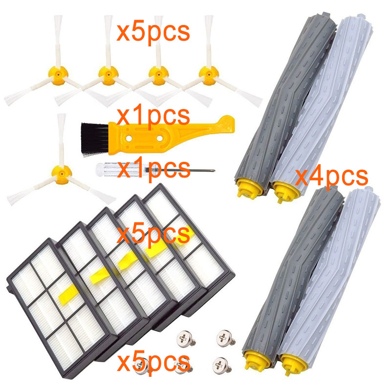 HEPA Filter Replace Brush Kit Parts Accessories Suitable For IRobot Roomba 805 860 861 865 866 870 871 880 885 960 966 980 Serie