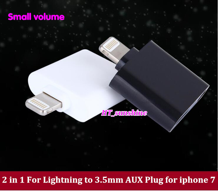 High Quality small volume+convenience 2 in 1 For Lightning to 3.5mm AUX Plug Adapter for iPhone 7 advances in macromolecular carbohydrate research volume 1 1