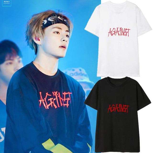 ddfbb67d29 kpop BTS Bangtan Boys concert JIN SUGA Surrounding Same paragraph t short  sleeve tshirt Couple Shirt Korean clothes