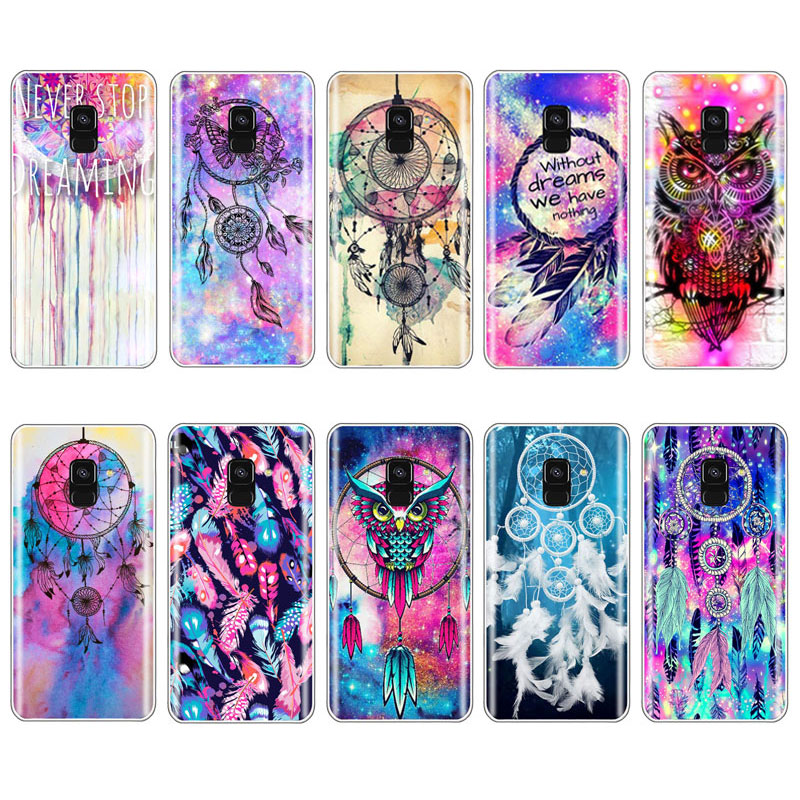 Phone-Case Silicone Cover Catching-Color Samsung S7-Edge Plus For S6 S9 S8 A6 A7 Soft