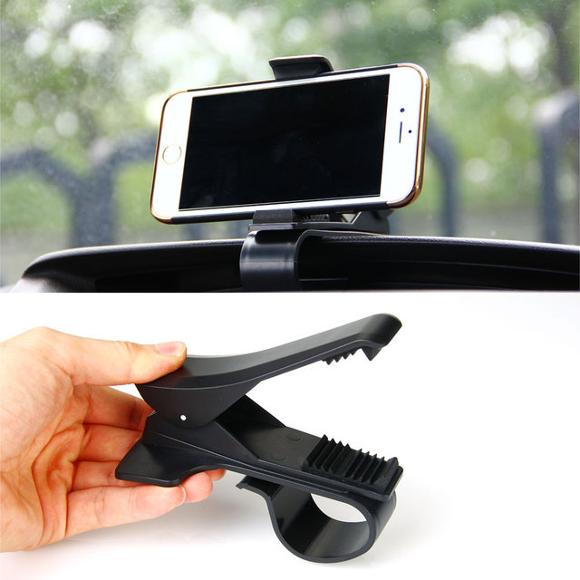 ET Anti-skid Car Phone Holder Dashboard Mount Clip Clamp Adjustable Phone Stand Bracket GPS for iPhone Samsung Xiaomi Huawei