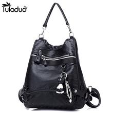 2020 Women Leather Backpack Large Multifunction Shoulders Travel Bag Fashion Soft Back Backpacks School Bags For Teenagers Girls