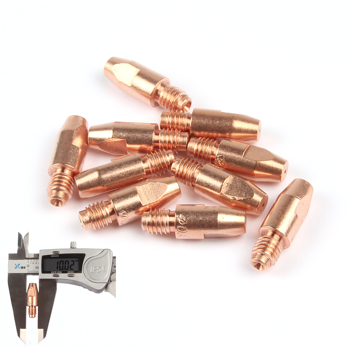 10Pcs MB 36KD Contact Tips Consumables M8*30mm 0.8/1.0/1.2mm Holder Torch Gun Nozzle MIG/MAG Co2/Gas Accessories Soldering Tool