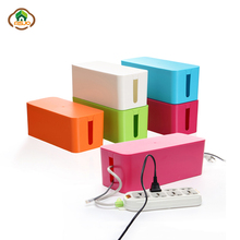Msjo Storage Boxes Wire Organizer Box Cable Management Electrical Outlet Bins For Power Strip Multi-Charger Wire Arranging Case orico cmb18 abs electrical socket storage box power cable manager case