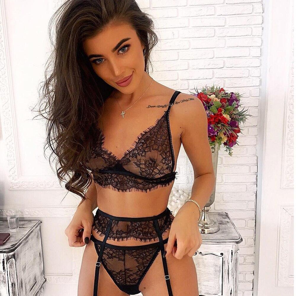 Sexy Lingerie dentelle nuisette ensemble sous-vêtements