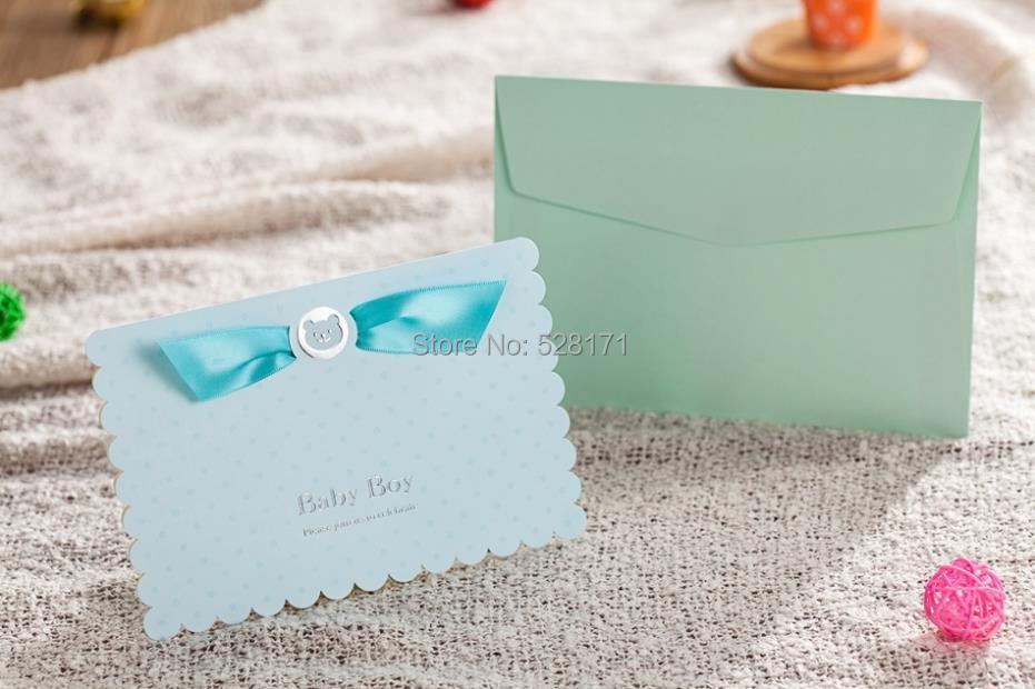 Free Shipping 6pcs/Lot Lovely Invitation Cards 3D Cartoon Baby ...