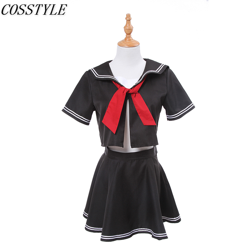 Anime Fate/Grand Order Jeanne d'Arc Joan of Arc Black Sailor Uniform Cosplay Costume Girl School Uniform Summer Set Women S-3XL