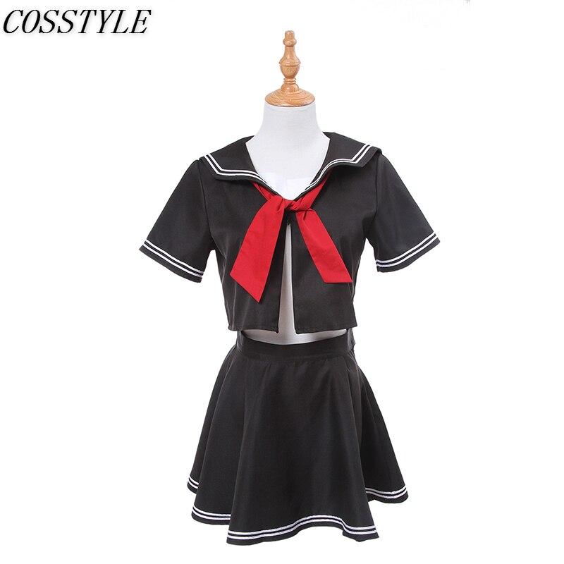 Anime Fate/Grand Order Jeanne d'Arc Joan of Arc Black Sailor Uniform Cosplay Costume Girl School Uniform Summer Set Women S-3XL