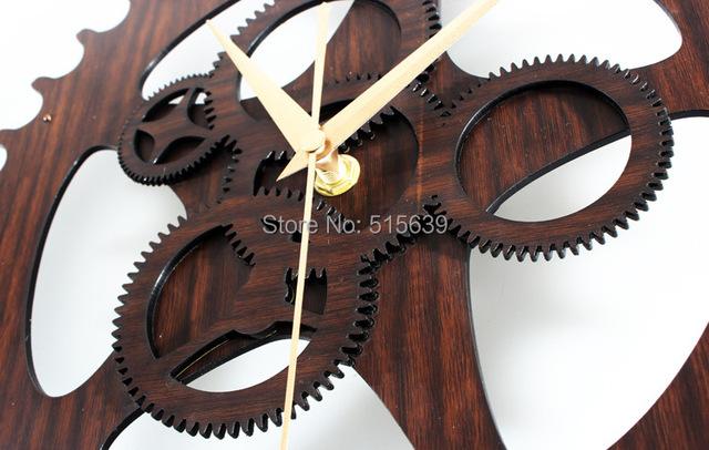 Creative Vintage Gear Wall Clock Home Decoration