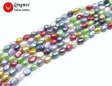Разноцветные Бусины qingmos 6 7 мм в стиле барокко из натурального