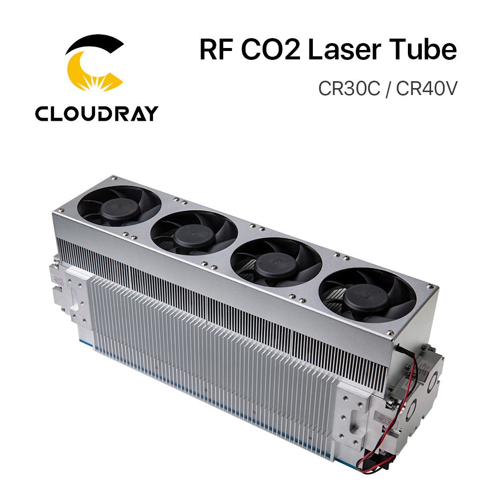Cloudray 30W 40W CRD CO2 Laser Tube CR30C / CR40V RF Laser Tube For CO2 Laser Engraving Marking Machine