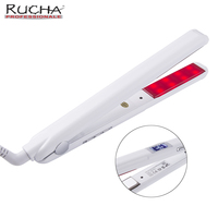 RUCHA Infrared Hair Care Iron Ultrasonic Hair Treatment Cold Straightener Recovers Damaged Iron With LCD Display