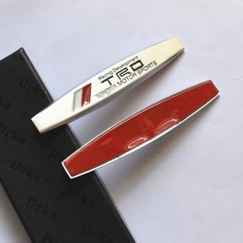 цена на 2PCS  The side emblem sticker aluminum metal of the logo decal For Toyota CROWN REIZ TRD Racing LOGO