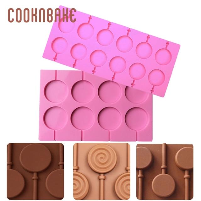 COOKNBAKE Siliconen Lolly Mallen ronde lollipops candy cake gebak vorm siliconen mal voor bakken zeep lollypops cake decorating