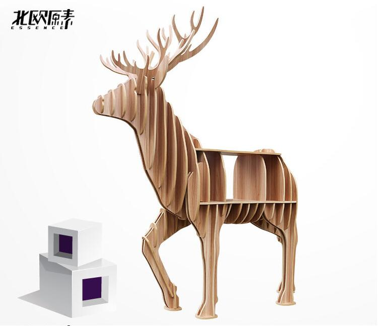 Christmas European Creative deer Side Table Nordic style log home furnishing decoration hotel restaurant bar decor free shipping christmas home decor snowman double table mat