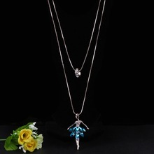 Dance BALLET Girl Fairy Angel  Necklace Chain Pendant