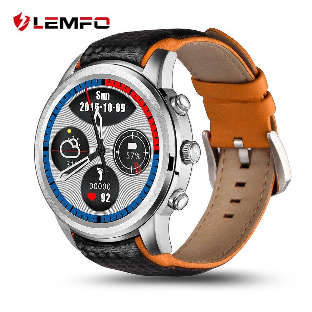 LEMFO LEM5 Smartwatch Android 5.1 GPS Uhr 3G Unterstützung Sim-karte Bluetooth Wifi Pulsuhr Touchscreen Android Handys