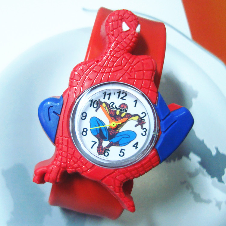 Factory Wholesale Cartoon Spiderman Kids Watches 2019 New Primary School Clock Children Watch For Child Boy Girl Christmas Gift