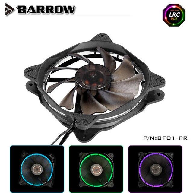Barrow RGB aura PWM cold exhaust Water Cooling Fan high pressure hydraulic bearing BF01-PR