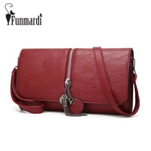 Luxury tassel design PU leather Clutch bags High capacity evening bag vintage Flap bags Fashion leather messenger bag WLHB1539