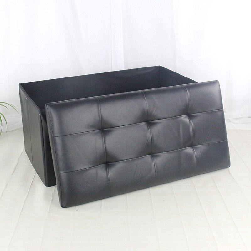 Vistoso Almacenamiento De Gran Tamaño Cuadrados Muebles Otomana ...