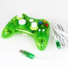 Зеленый Мини прозрачный игровой коврик Usb контроллер джойстика для Xbox 360