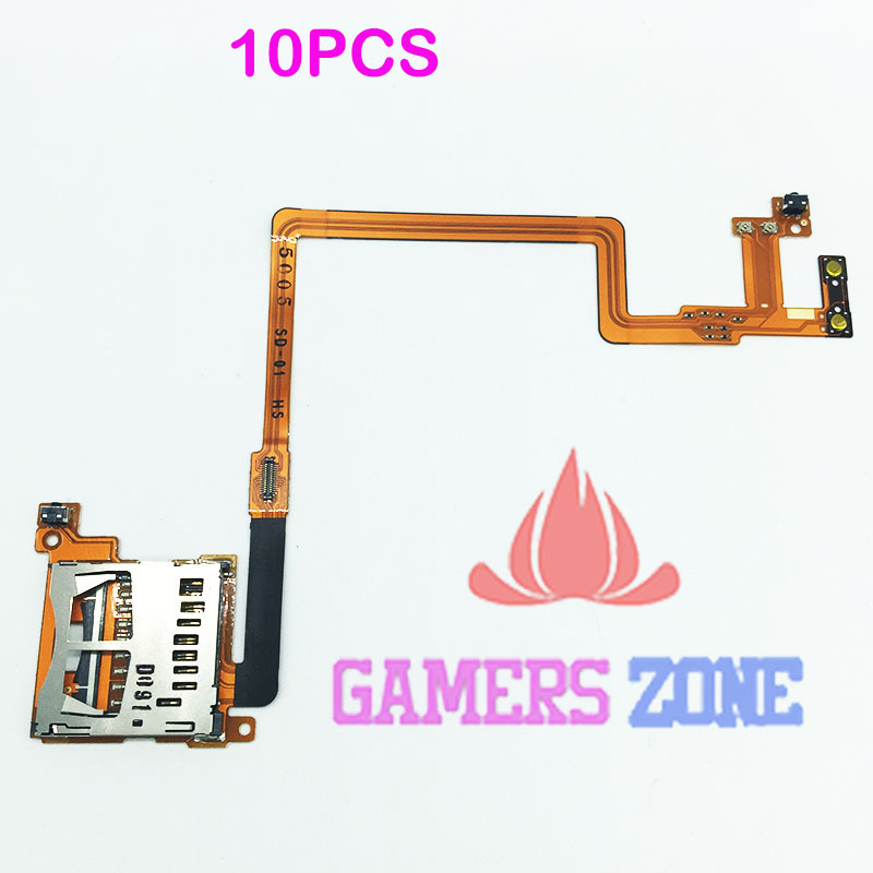 10PCS For Nintendo DSi NDSI SD Card Slot Port Holder Connector & L R Shoulder Botton Flex Cable Repair parts-in Replacement Parts & Accessories from Consumer Electronics    1