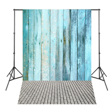 Blue Wood Board Brick Floor Photographic background for Photo Shoots Vinyl Backdrops
