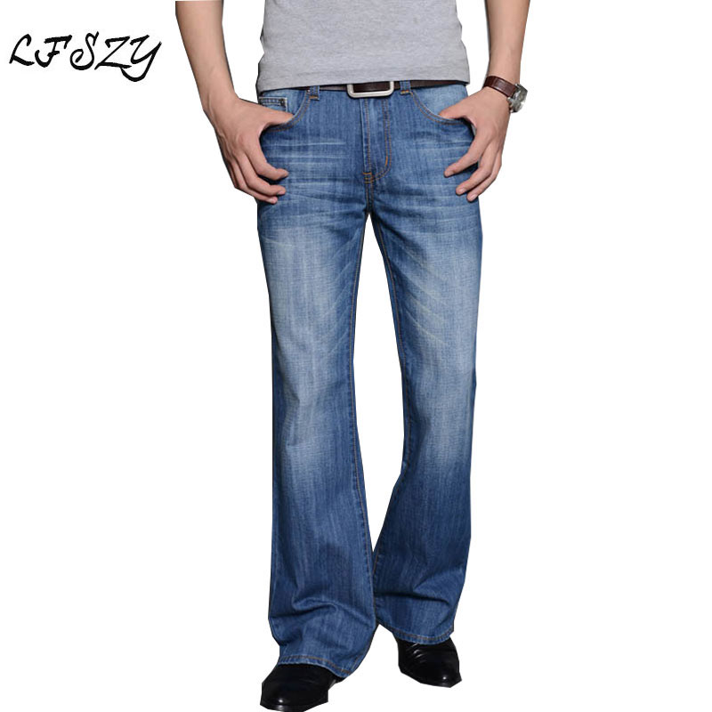 2020 Mens Modis Big Flared Jeans Boot Cut Leg Flared Loose Fit High Waist Male Designer Classic Denim Jeans Pants Biker Jeans