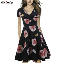 Form Fitting Floral Printed Dress Black Blue Sexy Women Summer Dress Short Sleeve Knee Length Elegant A-Line Dress blue random floral printed a line mini dress
