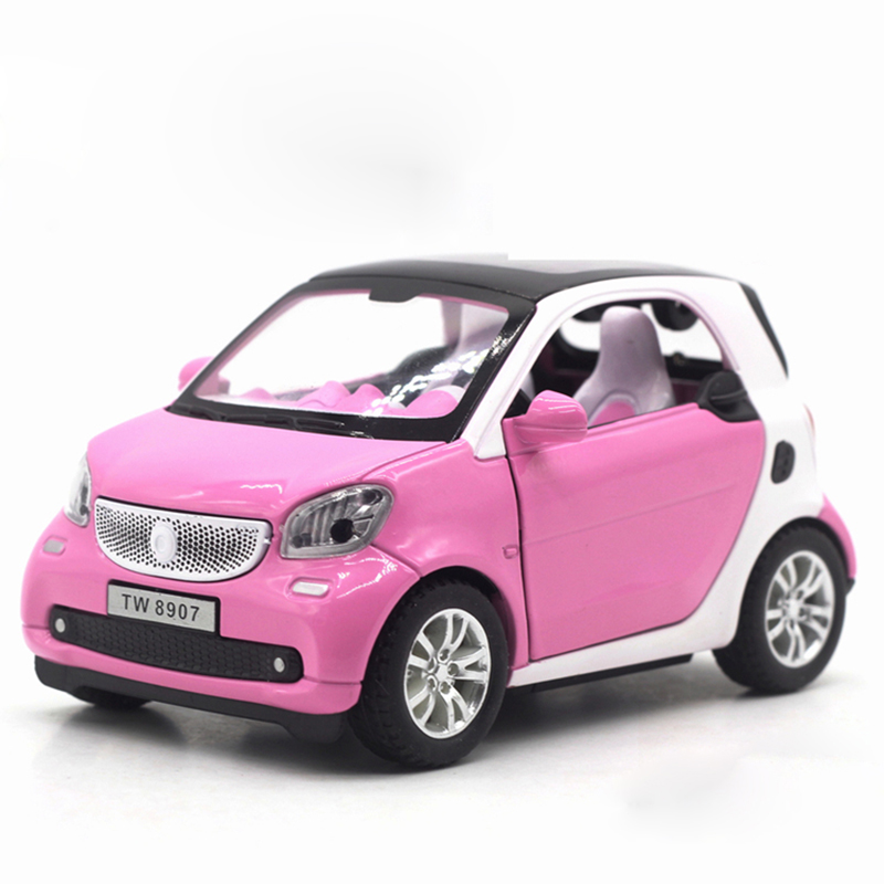 Hommat Simulation 1 24 Mini Smart Fortwo Model Vehicle Alloy Metal Cast Car Collection Gift Cars Toys For Children Kids In Casts Toy Vehicles