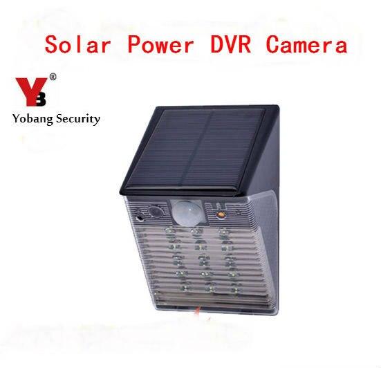 Yobang sécurité étanche sans fil WIFI extérieur PIR détection de mouvement automatique enregistrement vidéo DVR caméra 1080 P lumière LED lampe