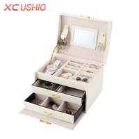 Multilayer PU Leather Jewelry Storage Box Necklace Earrings Bracelet Display Organizer Case Jewellery Container Casket Box