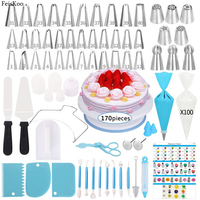 170pcs Cake Decorating Tools Dessert Decorators Russia Icing Piping Nozzles Pastry Nozzle confectionery bag Cake Decorating Tips
